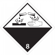 46267 - Etiquette danger classe 8