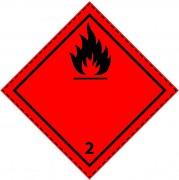 46033 - Etiquette danger colis classe 2.1