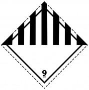 46129 - Etiquette danger colis classe 9