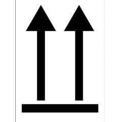 46418A – Etiquette de manutention flèches de sens noires n°11