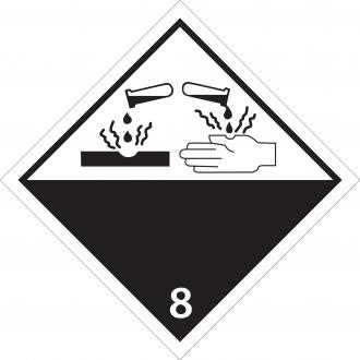 46349 - Etiquette danger classe 8