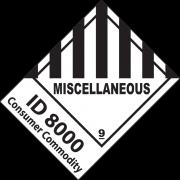 46413 - Etiquette de danger IATA ID 8000 CONSUMER COMMODITY + ETIQ CL 9