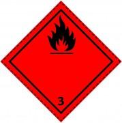 46049 - Etiquette danger colis classe 3