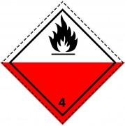 46061 - Etiquette danger colis classe 4.2