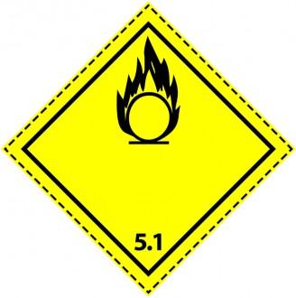 46081 - Etiquette danger colis classe 5.1