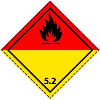 46085 - Etiquette danger colis classe 5.2