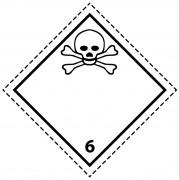 46093 - Etiquette danger colis classe 6.1