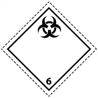 46097 - Etiquette danger colis classe 6.2