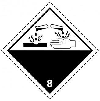 46117 - Etiquette danger colis classe 8