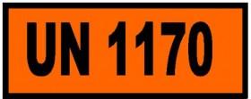 panneau orange maritime avec n° ONU