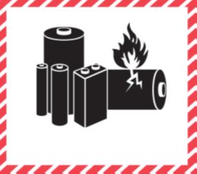 46401 - Etiquette de danger IATA pile au lithium